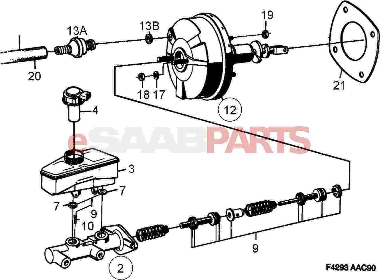 Saab Master Cylinder