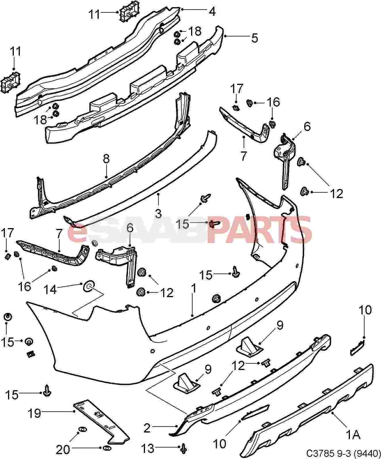 ford focus exhaust system diagram domestic wiring uk fiesta rear bumper parts imageresizertool com