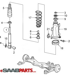 esaabparts com saab 9 5 9600 suspension wheels parts suspension rear rear springs 2006 2009  [ 1295 x 1528 Pixel ]