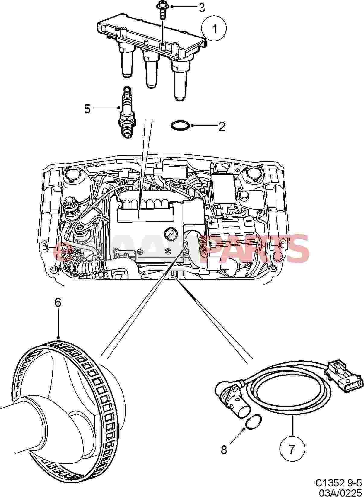 Saab Direct Ignition Cassette 3 0 V6