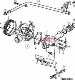 esaabparts com saab 9000 engine parts heating cooling system coolant pump 4 cylinder [ 1491 x 1525 Pixel ]