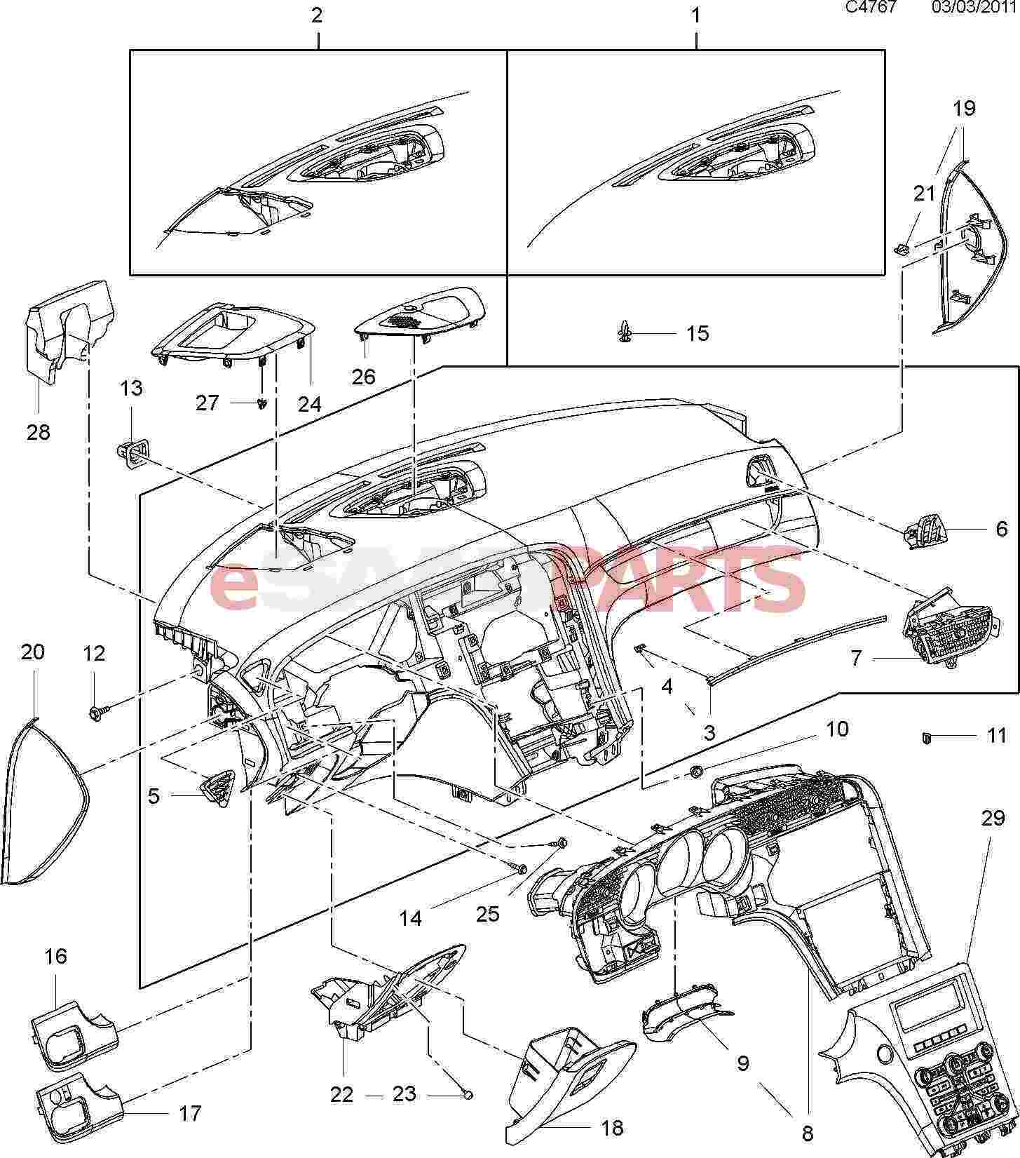 Saab Parts Diagrams Dashboard • Wiring Diagram For Free