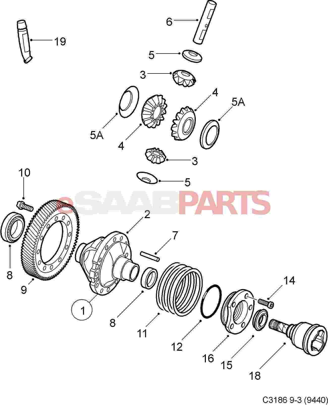 [12755013] SAAB Axle Seal (Manual Transmission 6-Speed