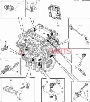 [12674782] SAAB Oil Pressure Sensor (28T V6)  Genuine