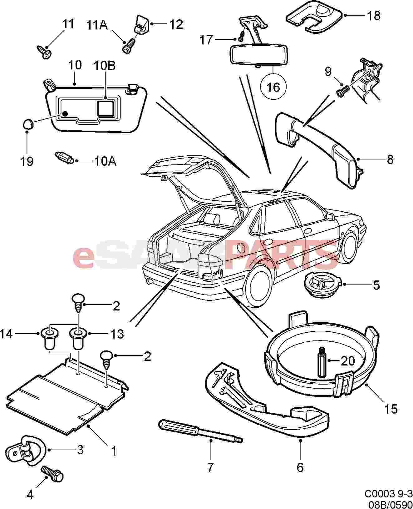 Saab 9 3 Parts Diagram Interior. Saab. Auto Wiring Diagram