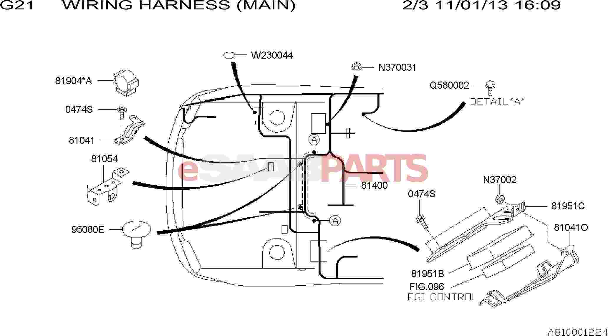 Saab Harness Bulkhead