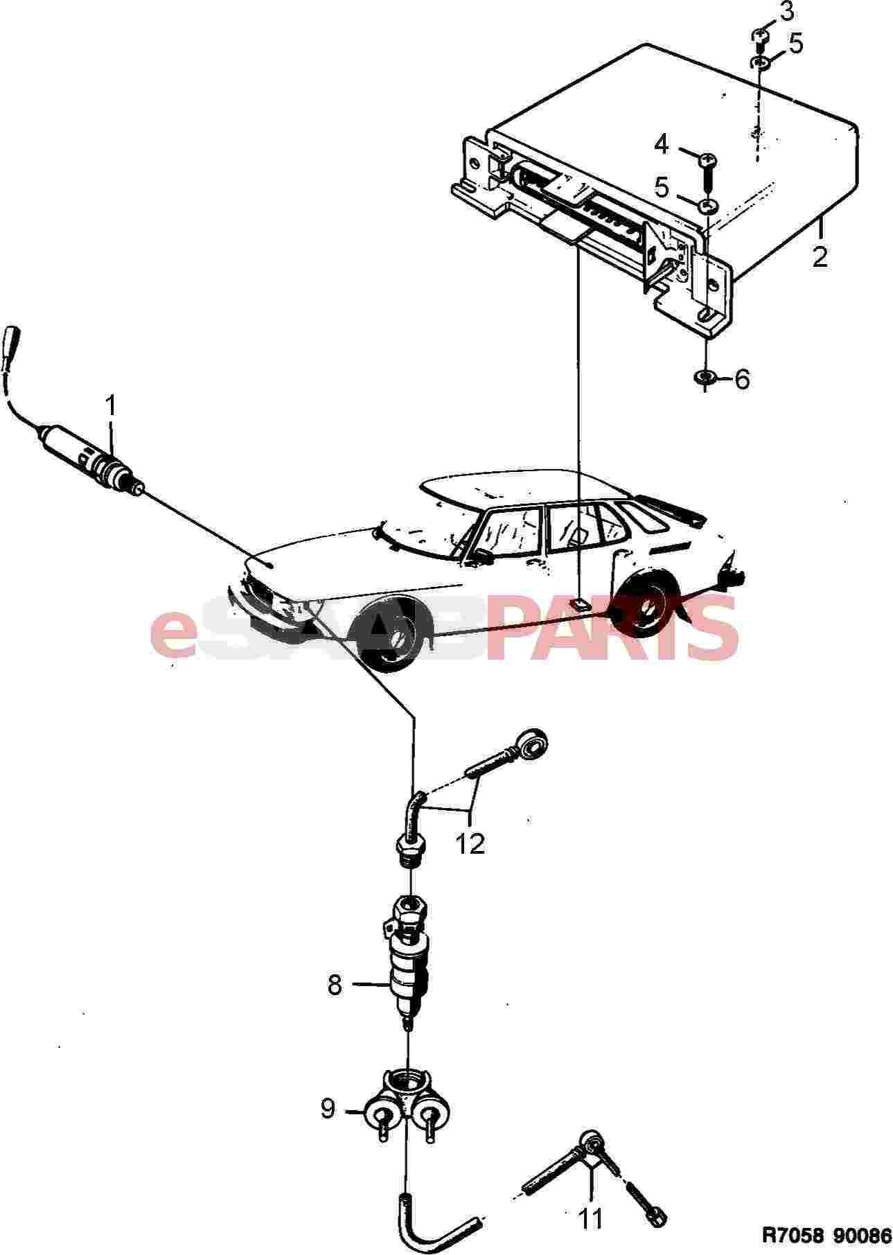 Saab Fuel Pipe