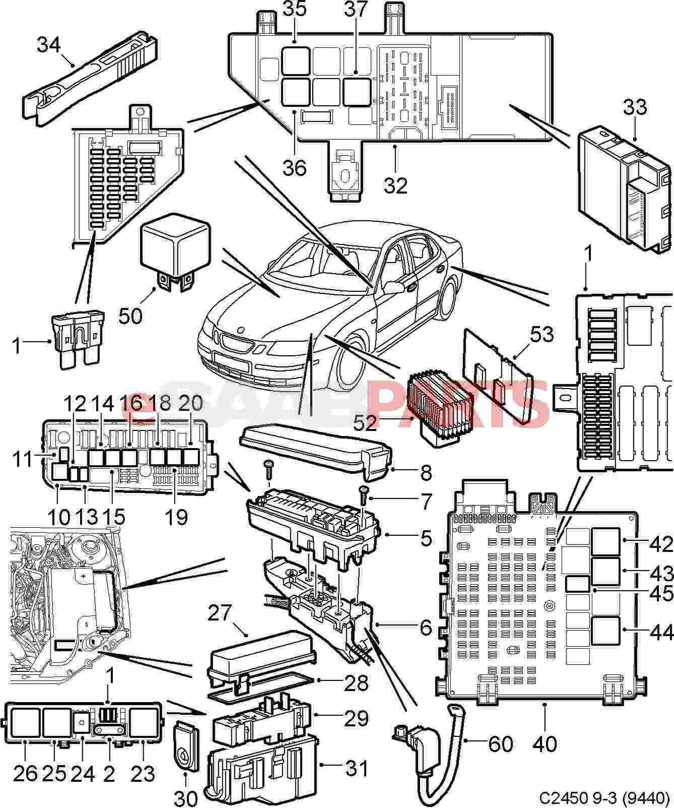 wiring diagram saab 9 3 2005