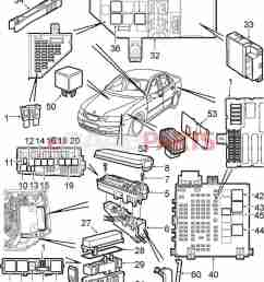 esaabparts com saab 9 3 9440 electrical parts relays fuses 2005 saab 9 3 convertible fuse diagram [ 1338 x 1603 Pixel ]