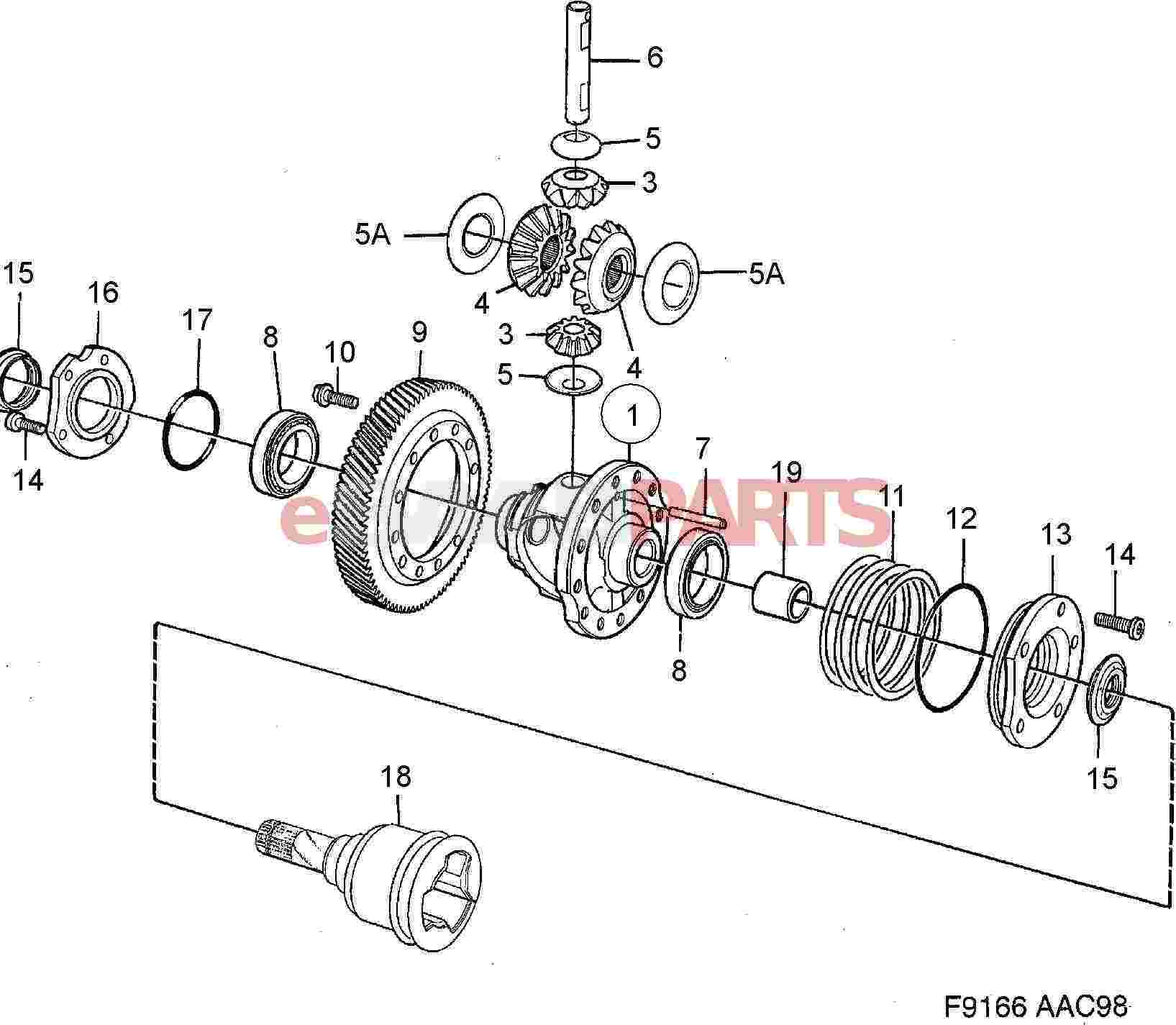 Saab Axle Seal Manual Transmission