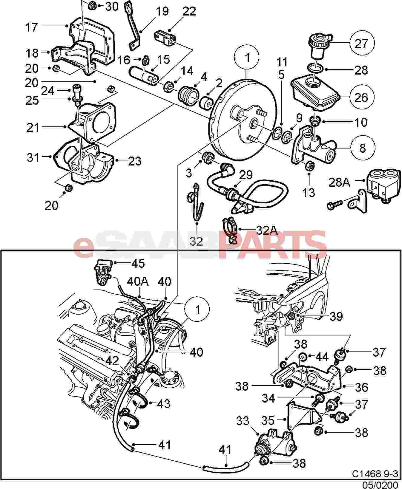 saab 9 3 engine diagram ford trailer wiring 7 way b204 auto