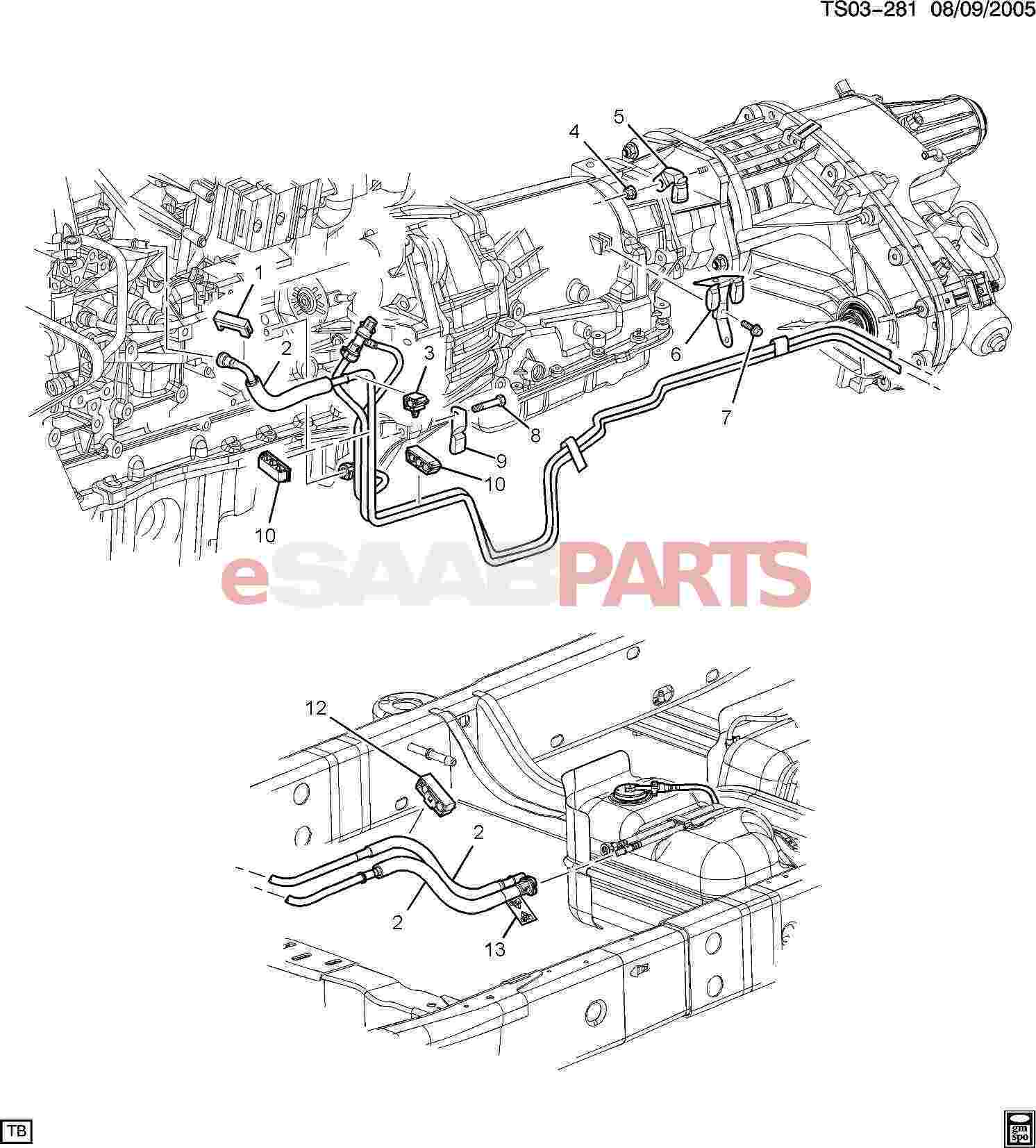 Saab Clip Fuel Feed Amp Evap Emis Amp Rtn Hose