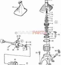 esaabparts com saab 9000 transmission parts transmission manual gear shift lever [ 1668 x 2513 Pixel ]