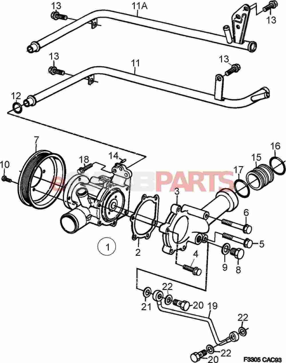 medium resolution of 92150435 saab gasket genuine saab parts from esaabparts com cadillac cooling system diagram saab cooling system diagram