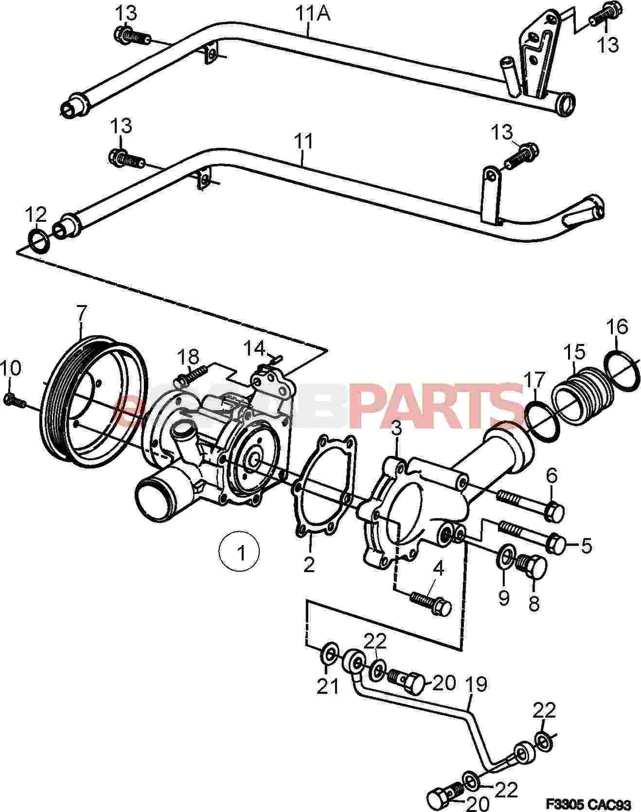 hight resolution of 92150435 saab gasket genuine saab parts from esaabparts com cadillac cooling system diagram saab cooling system diagram