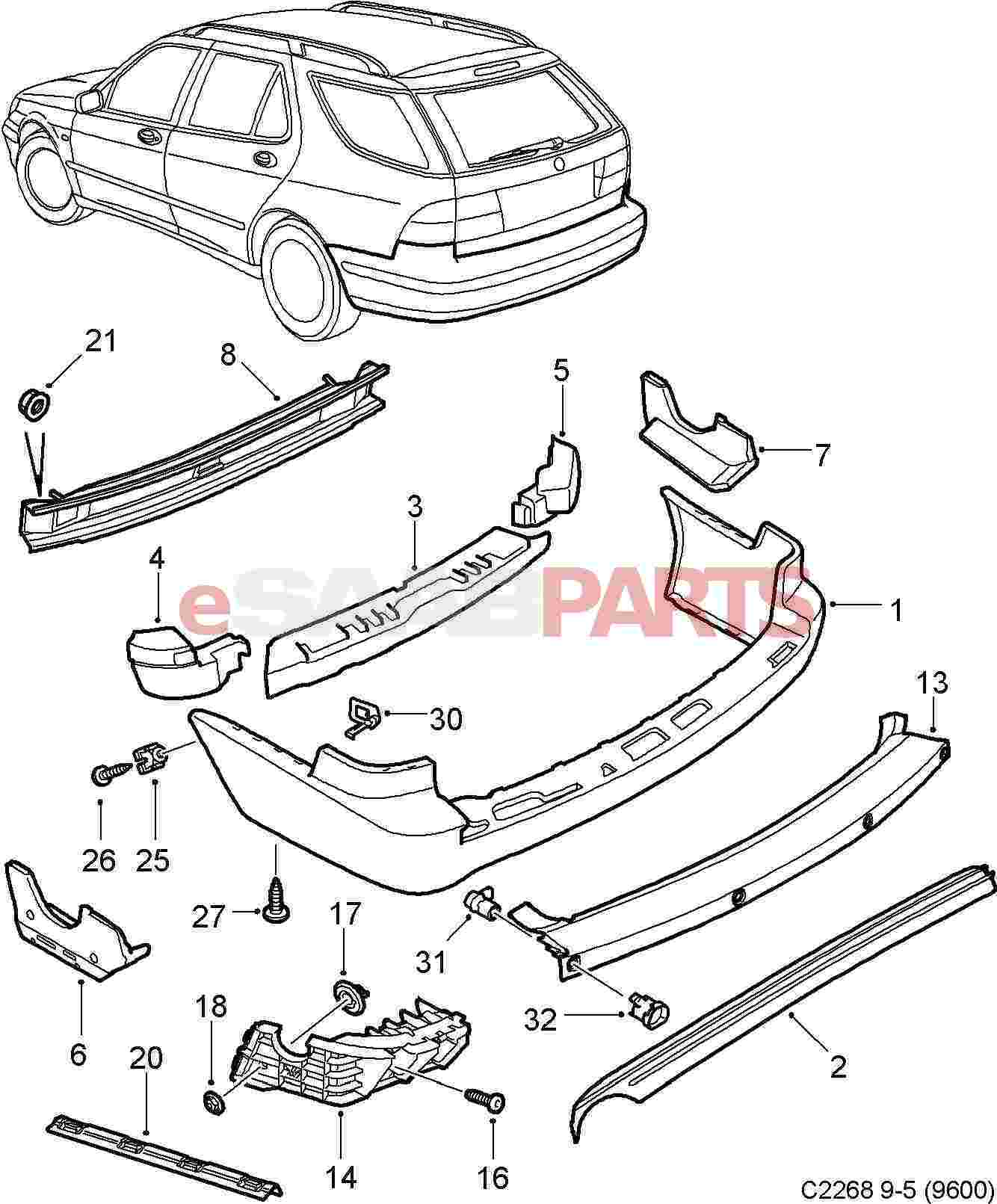Service manual [2010 Saab 42072 Front Bumper Removal