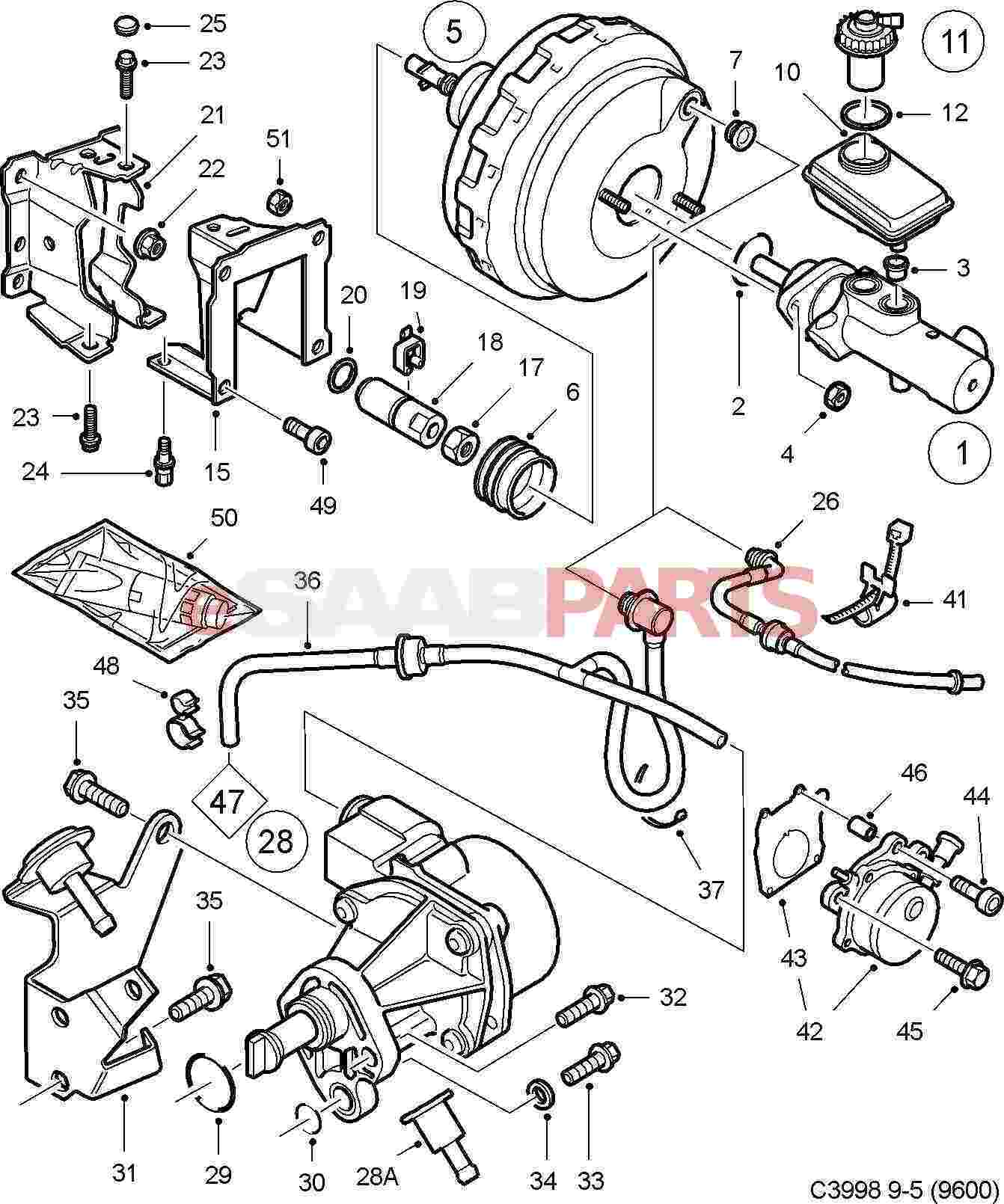 hight resolution of esaabparts com saab 9 5 9600 u003e brakes parts u003e brake vacuumesaabparts