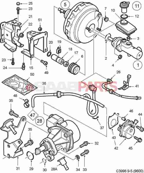 small resolution of esaabparts com saab 9 5 9600 u003e brakes parts u003e brake vacuumesaabparts
