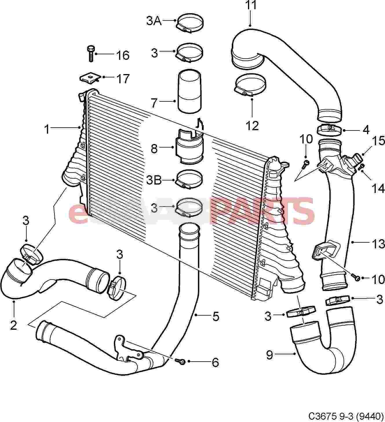 Saab Intercooler B207 2 0t