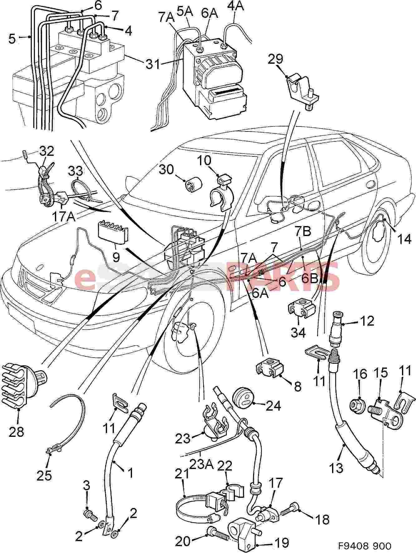 Saab Brake Pipe