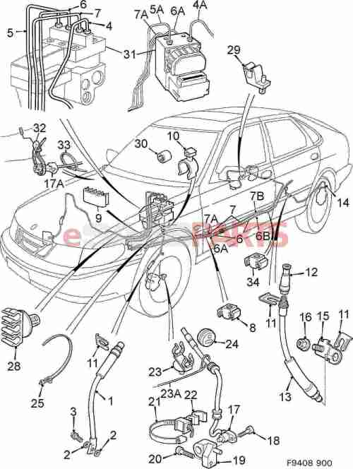 small resolution of esaabparts com saab 900 u003e brakes parts u003e brake lines u003e brake lines