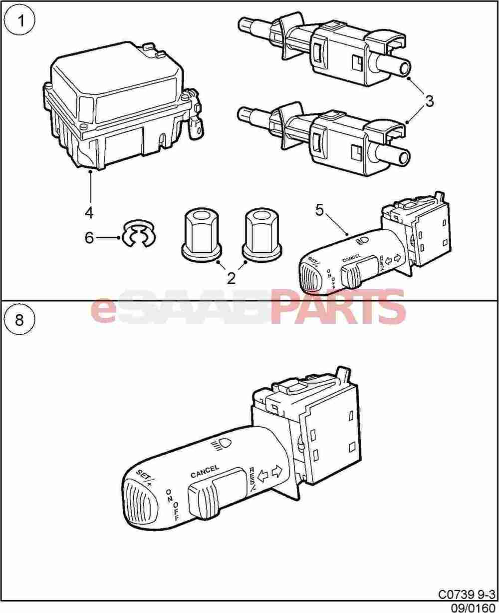 medium resolution of 400130548 saab cruise control genuine saab parts from esaabparts com diagram fitment