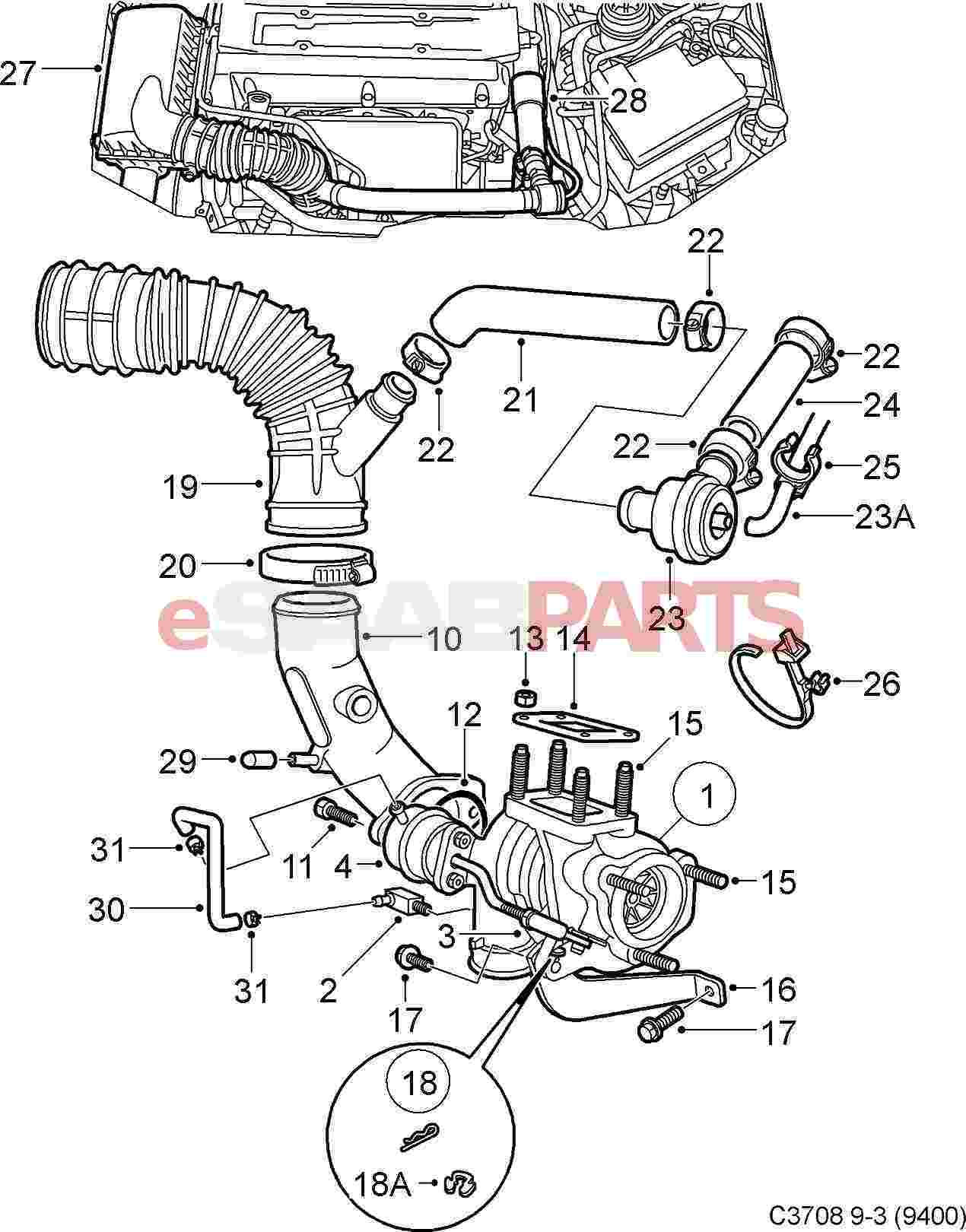 saab 9 3 engine diagram 4 way pressure clamp system 2 ecotec and wiring