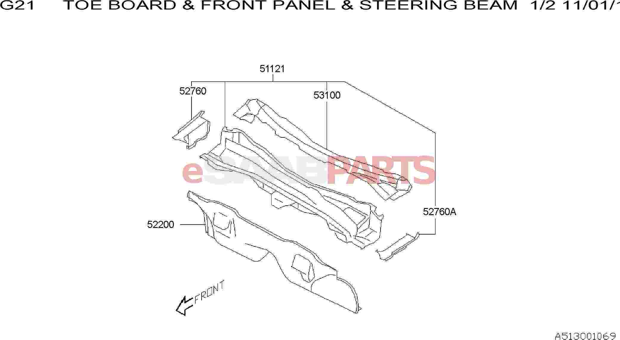 Saab Duct Complete Front Panel