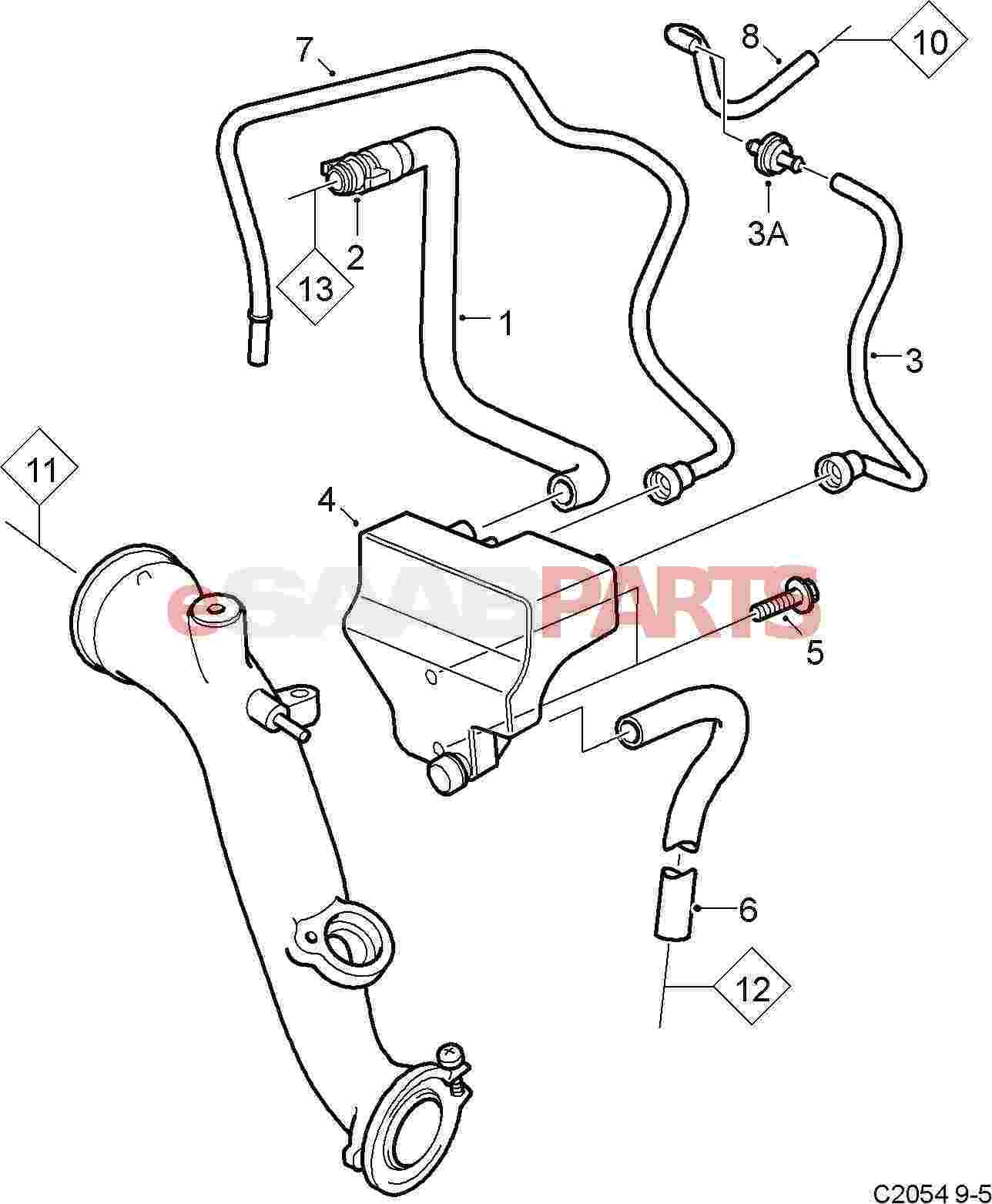 hight resolution of pcv breather system 2004 2009 2 3t