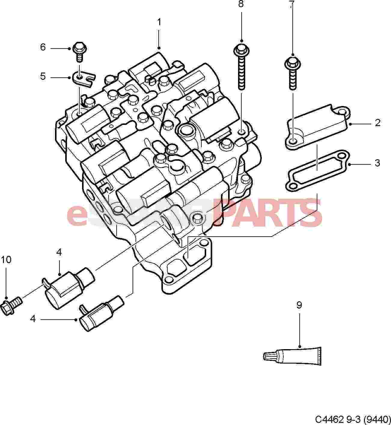 hight resolution of esaabparts com saab 9 3 9440 u003e transmission parts u003e transmission saab 9 3 automatic diagram