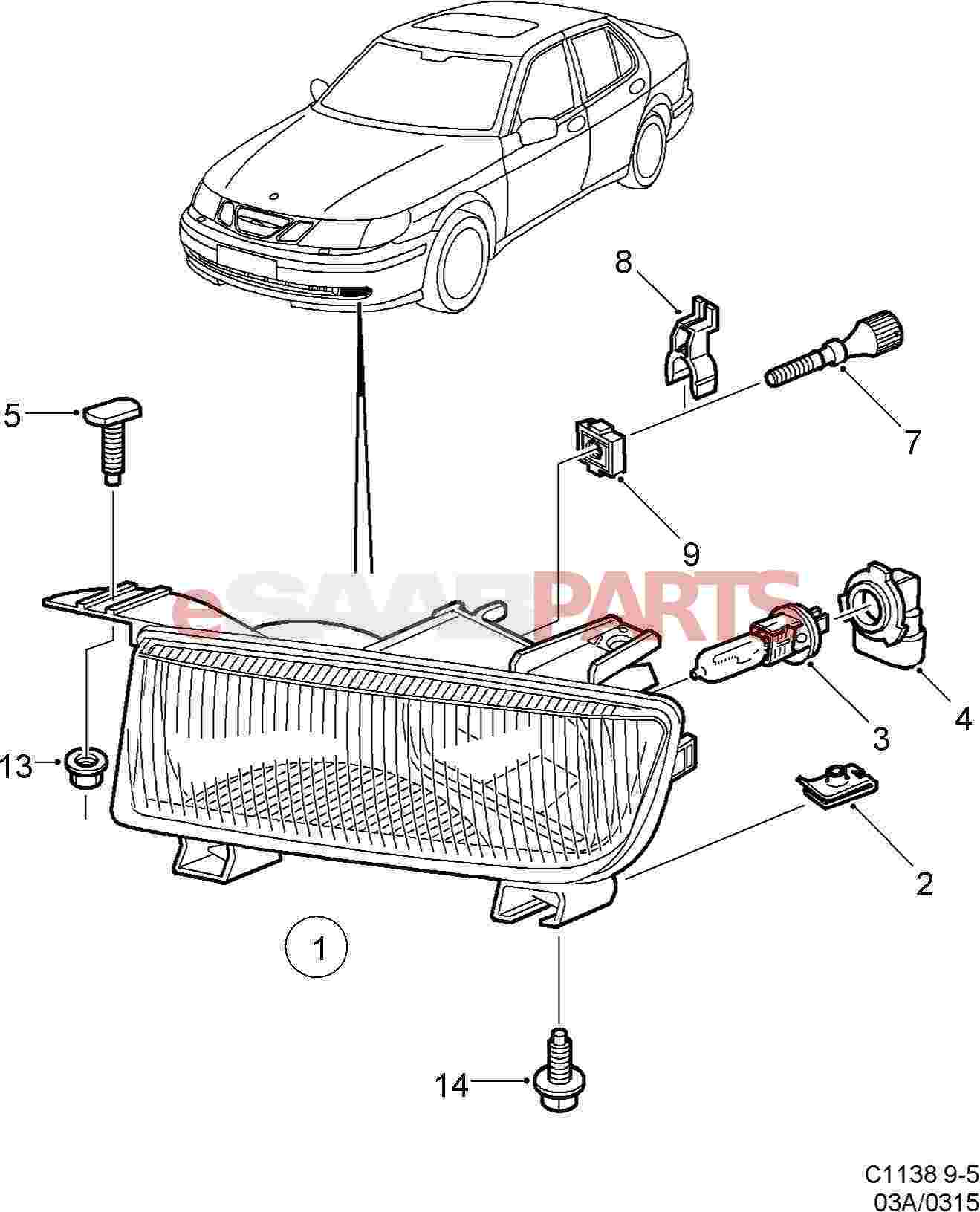 2004 Saab 9 3 Fog Light Wiring Diagram 2004 Chrysler
