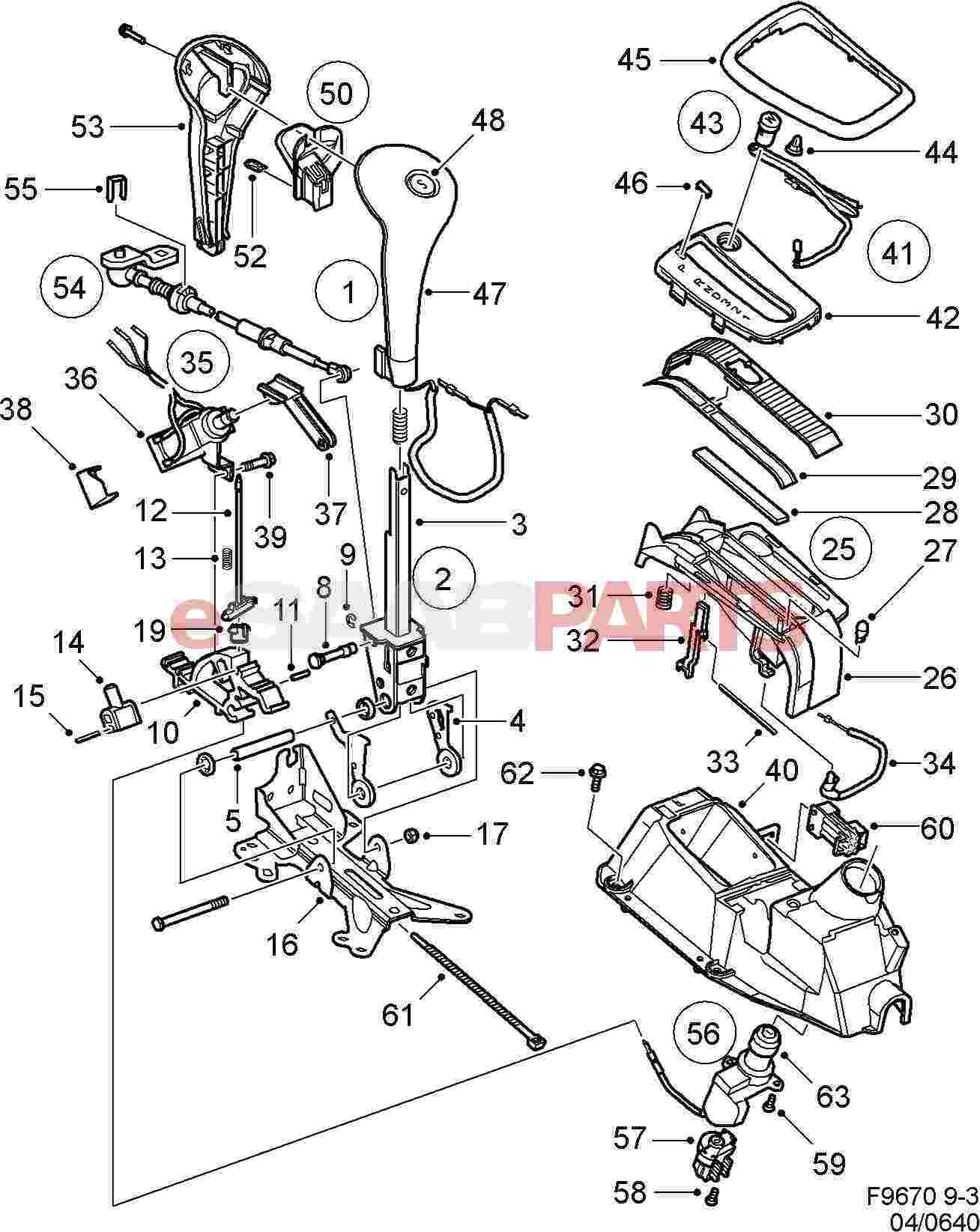 Saab Cable Gear Selector