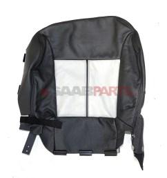 new saab 9 3 seat cover lh bottom black beige b06 aero convertible oem 12770891 ebay [ 3212 x 3513 Pixel ]