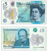 A new five Pound note will soon to be in circulation.