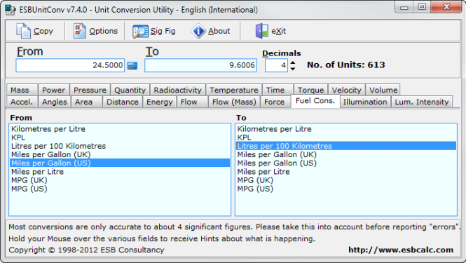 Unit Conversion Utility screenshot