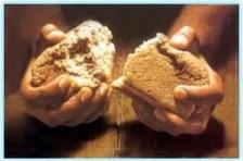 necessidades dos santos, compartilhar, colaborar, ajudar, contribuir