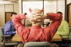 Esboços e Ilustrações: O diabo faz palestra na Convenção Mundial de Demônios