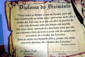 É gospel, mas é absurdo [8]: Diploma de dizimista assinado por Jesus Cristo