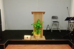 O púlpito está vazio