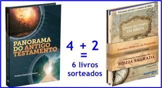 Sorteio de 6 livros para quem ama estudar a Bíblia