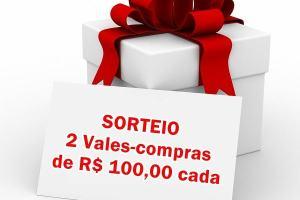 Sorteio Dia dos Namorados 2016: 2 vales-compras de R$ 100,00 cada
