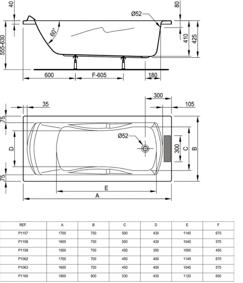 Baignoire Rectangulaire ULYSSE Ideal Standard
