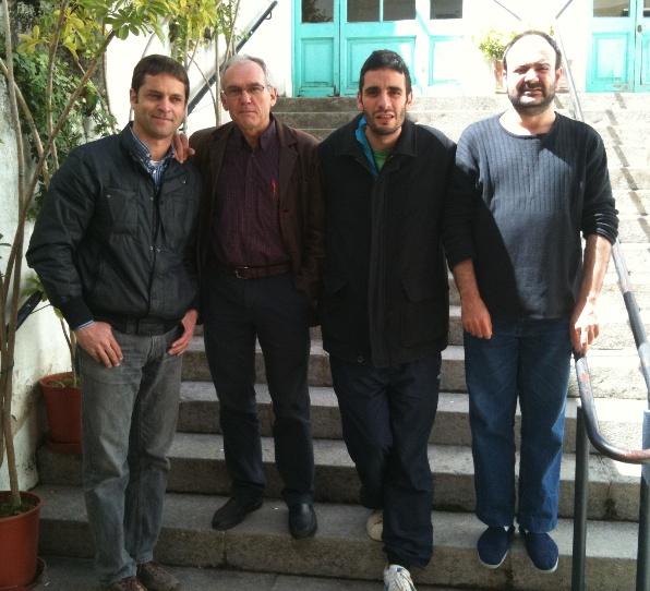Arenys de Munt B: Josep Maria Pitarque, Carles Mitjà, Virgili i J. Sànchez