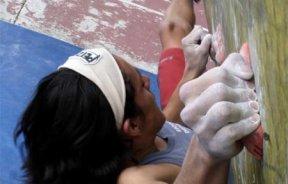 Competencia de escalada boulder Boulderanga 8 en Ecuador