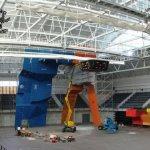 Instalacion Campeonato del Mundo de Escalada IFSC 2007 en Avilés