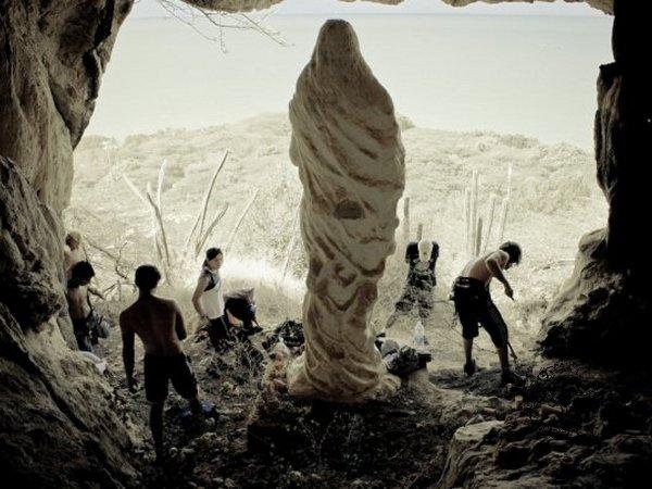 Virgen en la roca en la Isla Toas