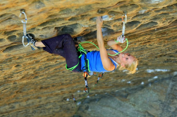 Emily Harrington en el Petzl RocTrip Red River Gorge 2007