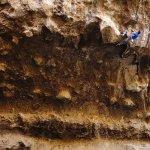 Javier Serratos en La Venus de Milo 8b+ - Foto Gustavo Vela Turcott