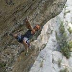 Jordi Salas escalando en en Tres Ponts