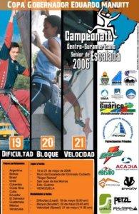 Campeonato Centro/Suramericano Senior de Escalada 2006